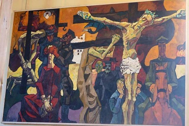 Ibenthalers Passionsbild in der Holzener Kirche ist einen Besuch wert