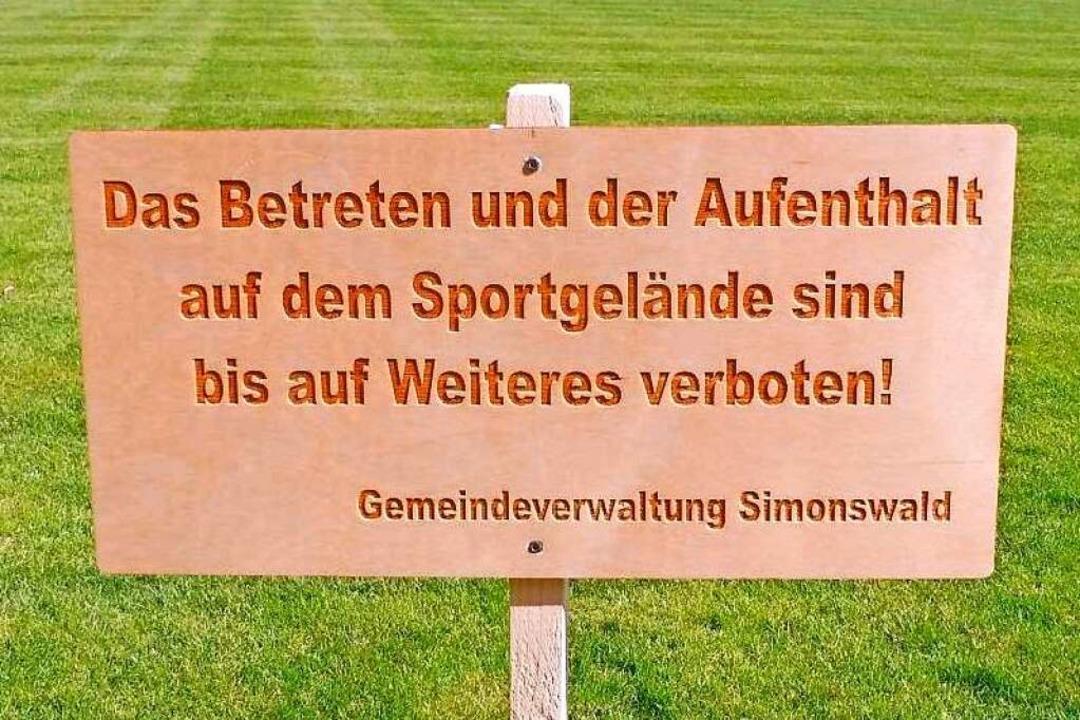 Wie überall sind die Sportplätze derzeit für Vereinssport gesperrt.    Foto: Simon Schonhardt