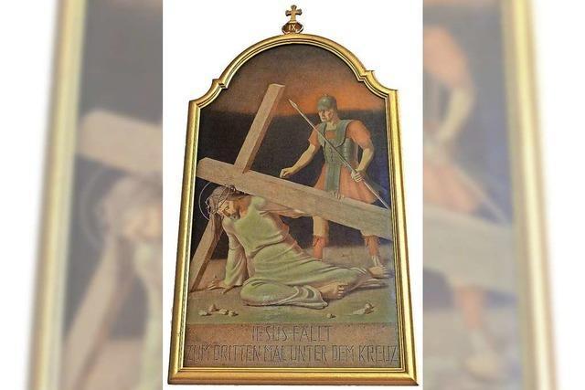 Georg Scholz' Kreuzwegbilder erinnern an Leiden und Sterben Jesus
