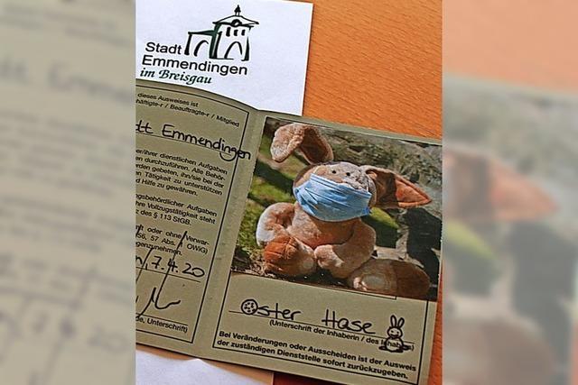 AUCH DAS NOCH: Osterhase erhält Dienstausweis