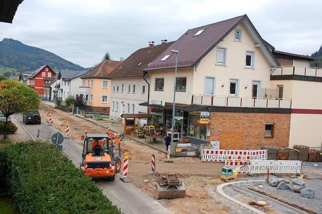 Der östliche Ortsausgang von Reichenbach ist vier Tage lang komplett dicht