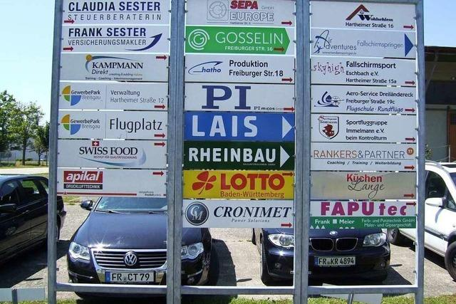 Gewerbepark Breisgau in Eschbach stellt sich auf schwierige Zeiten ein