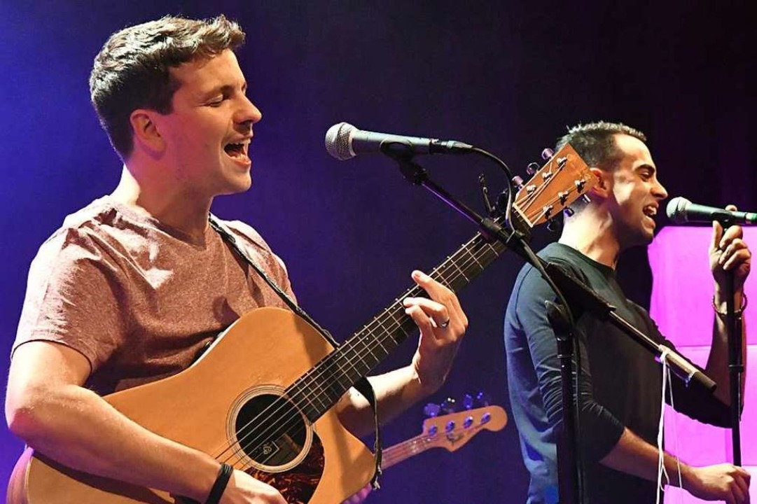 Dominik Büchele (links) tritt beim heutigen Wohnzimmer-Konzert auf.  | Foto: Wolfgang Künstle
