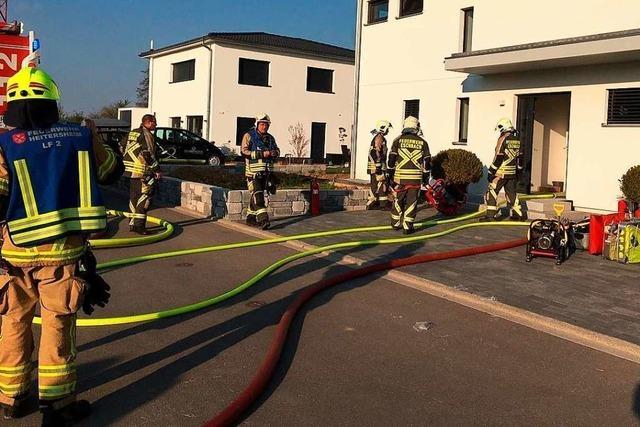 Kellerbrand in Eschbach beschäftigt 30 Feuerwehrleute