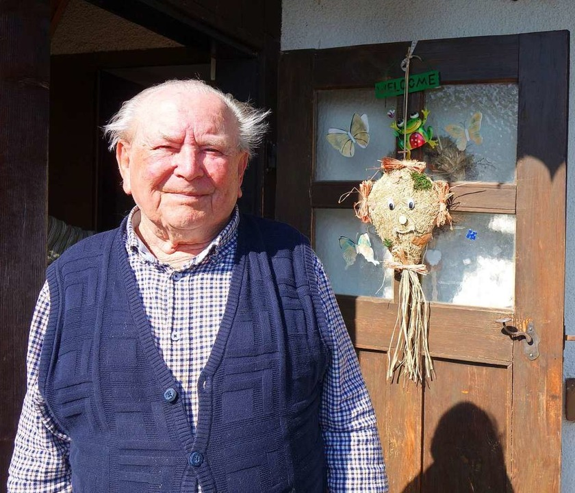 Albert Röther aus Hohenegg hat mit 101 Jahren schon so einiges miterlebt.  | Foto: Gudrun Gehr