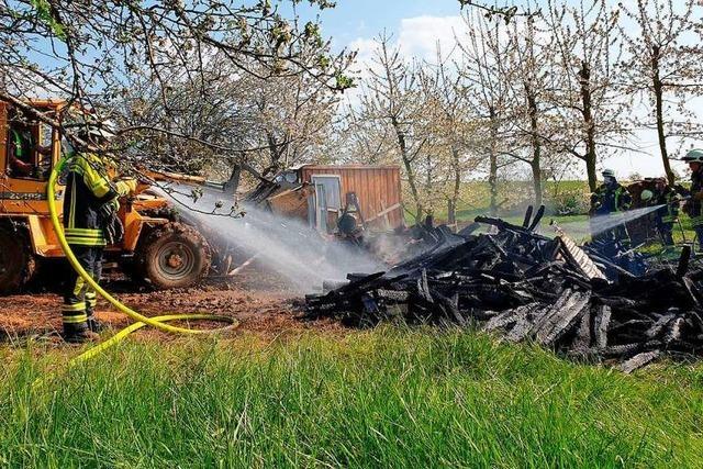 Müllheimer Feuerwehr hat am Osterwochenende viel zu tun
