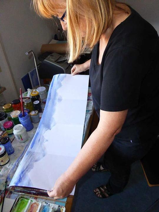 Kunstaktion in Corona-Zeiten: Hier entsteht das Kuntwerk von Sabina Person  | Foto: privat