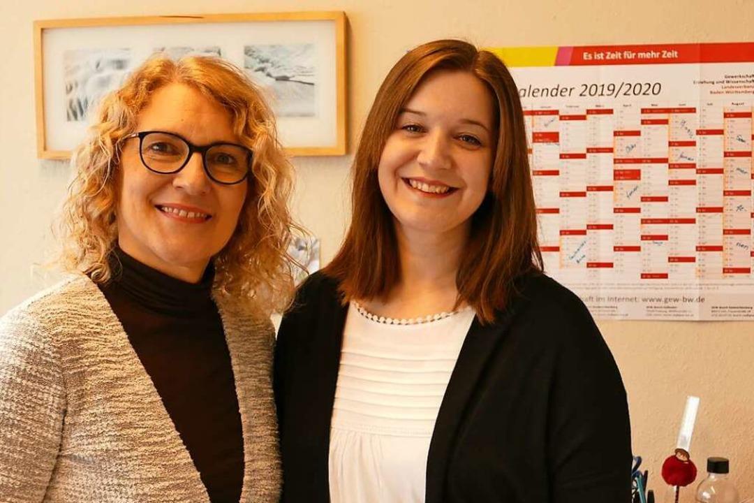Sabine Ullmann (links) und Jasmin Huge...nnen am Schulzentrum  Efringen-Kirchen    Foto: Victoria Langelott