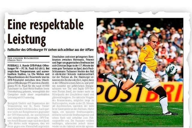 Als der FC St. Pauli beim Offenburger FV zu Gast war