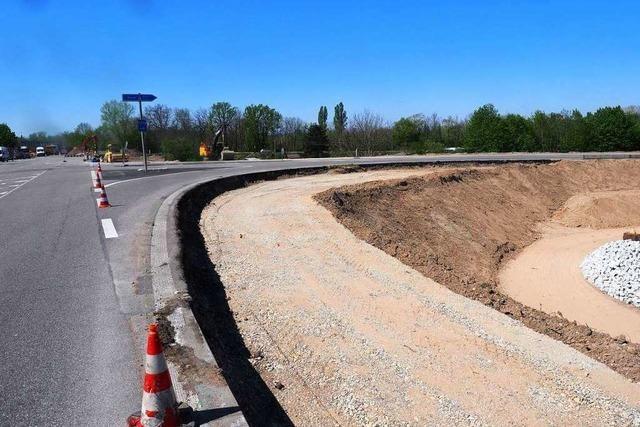 Autobahn-Anschlussstelle Müllheim-Neuenburg seit Dienstag Richtung Basel gesperrt