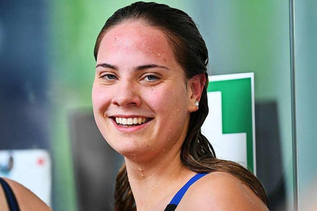 Hat sich vorgenommen, Tolstoi zu lesen: die 20-jährige Schwimmerin Anika Längin  | Foto: Patrick Seeger