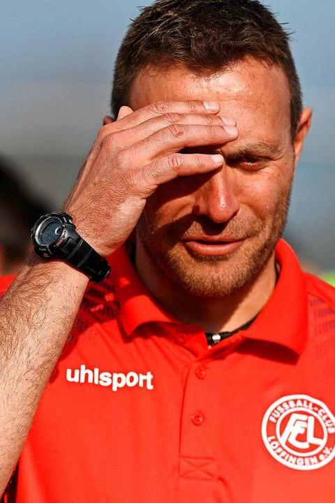 Augen auf und durch: Trainer Uli Bärmann vom FC Löffingen   | Foto: Wolfgang Scheu