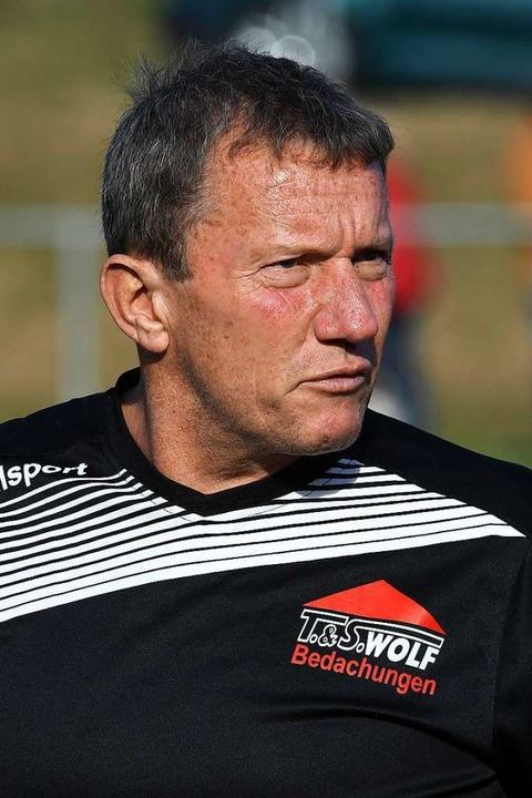 Handfester Coach: Thomas Wolf von der SG Unadingen-Dittishausen   | Foto: Wolfgang Scheu