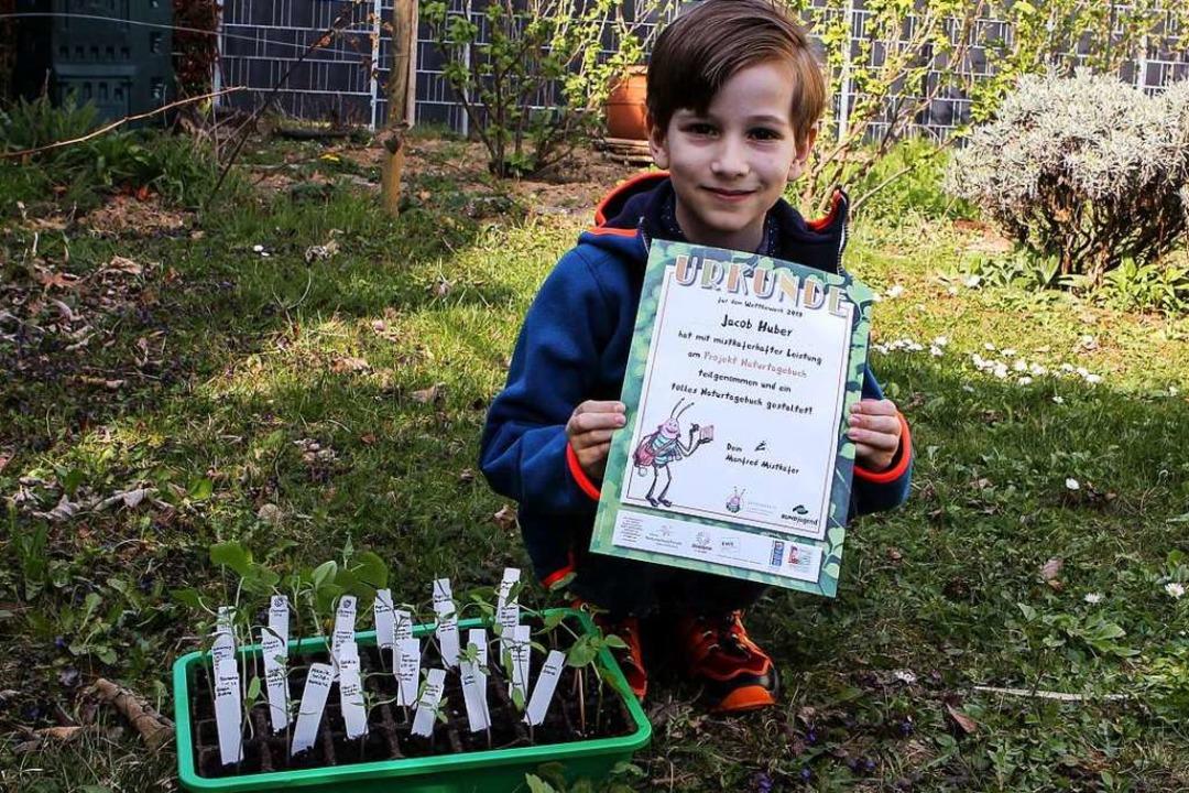 Jacob Huber ist Preisträger beim Natur...erb der BUND-Jugend Baden-Württemberg.  | Foto: Daniel Hengst