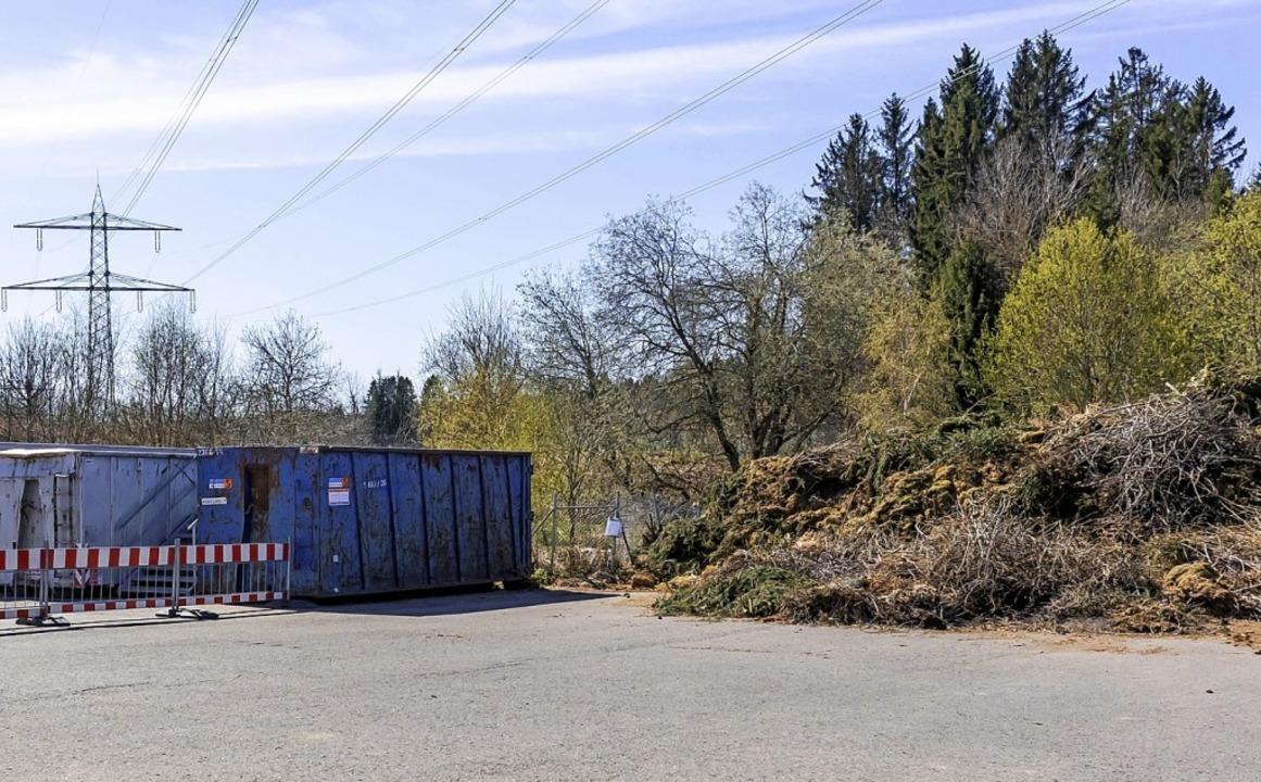 Grünschnittanlieferung ist auf dem Recyclinghof Grafenhausen möglich.    Foto: Wilfried Dieckmann