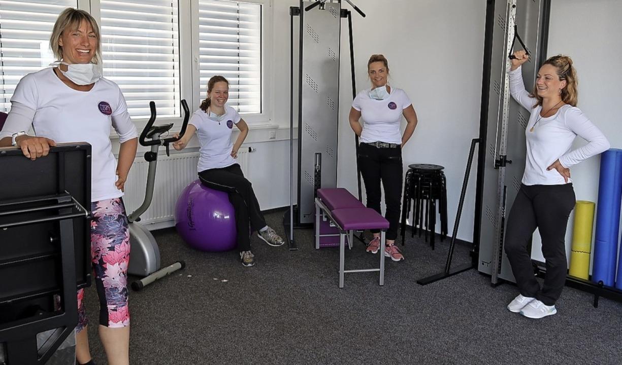Die vier Physiotherapeutinnen  Angelik...n gemeinsam das Physioloft gegründet.     Foto: Christine Weirich