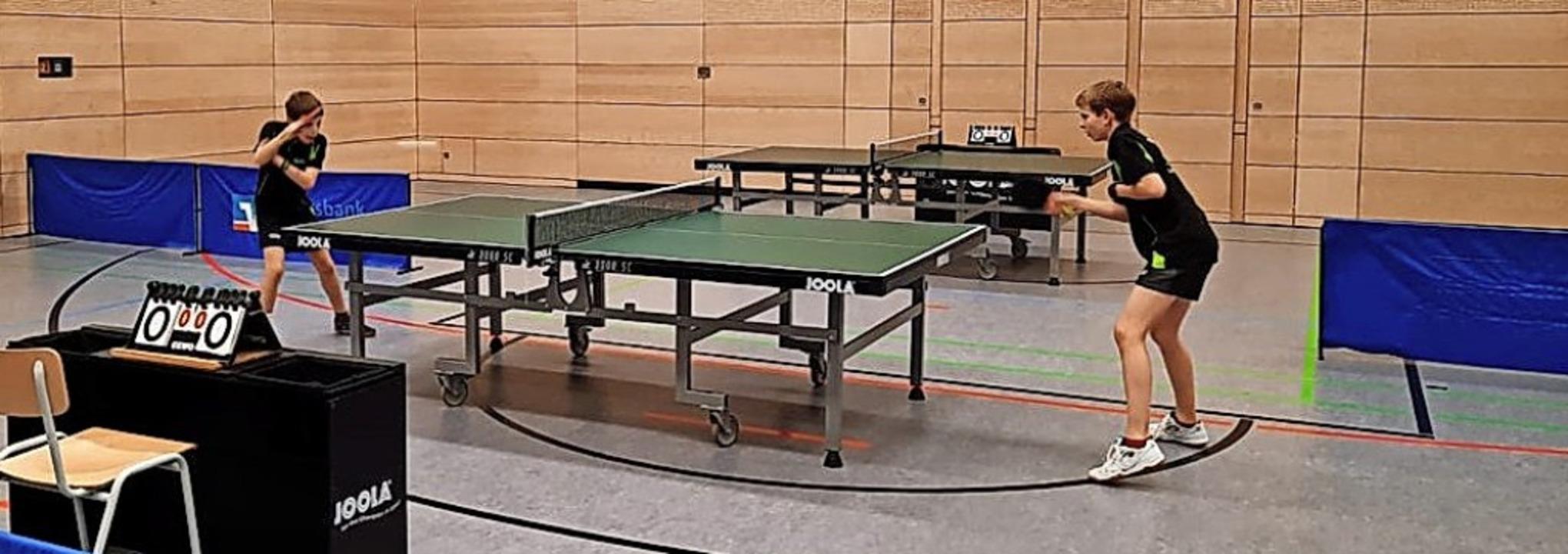 <BZ-FotoAnlauf>TTC Bad Krozingen:</BZ-...piel der Schüler vor gut einem Monat.     Foto: Tischtennisclub Bad Krozingen