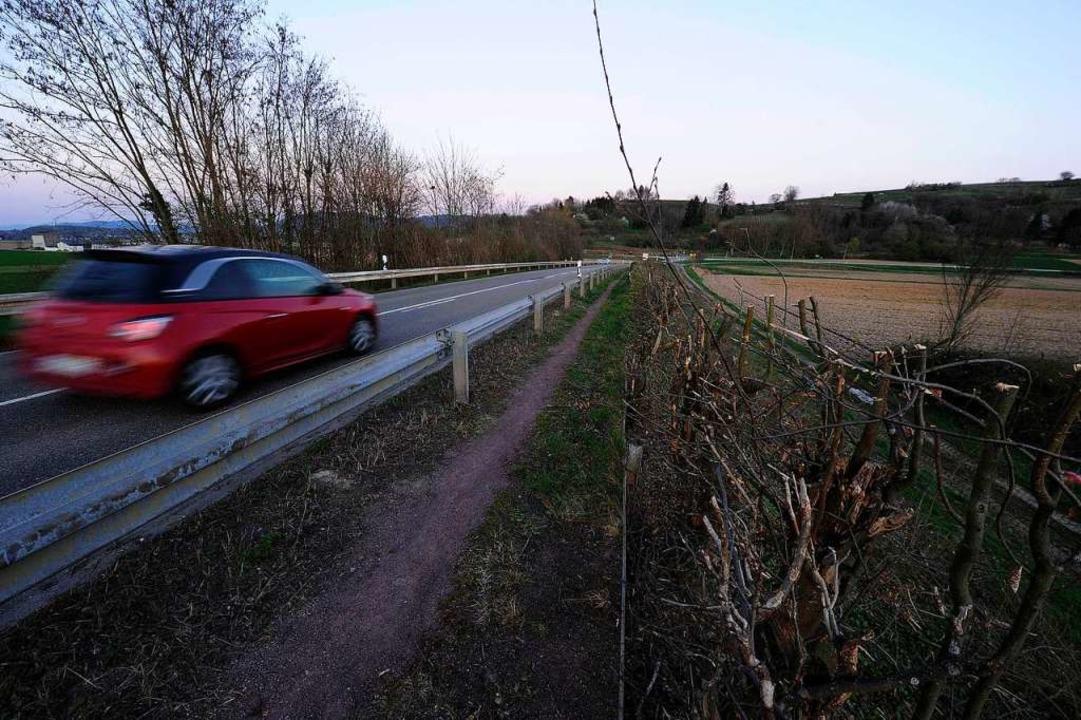 Entlang der Verbindungsstraße zwischen...urden die Sträucher zurückgeschnitten.  | Foto: Bettina Schaller