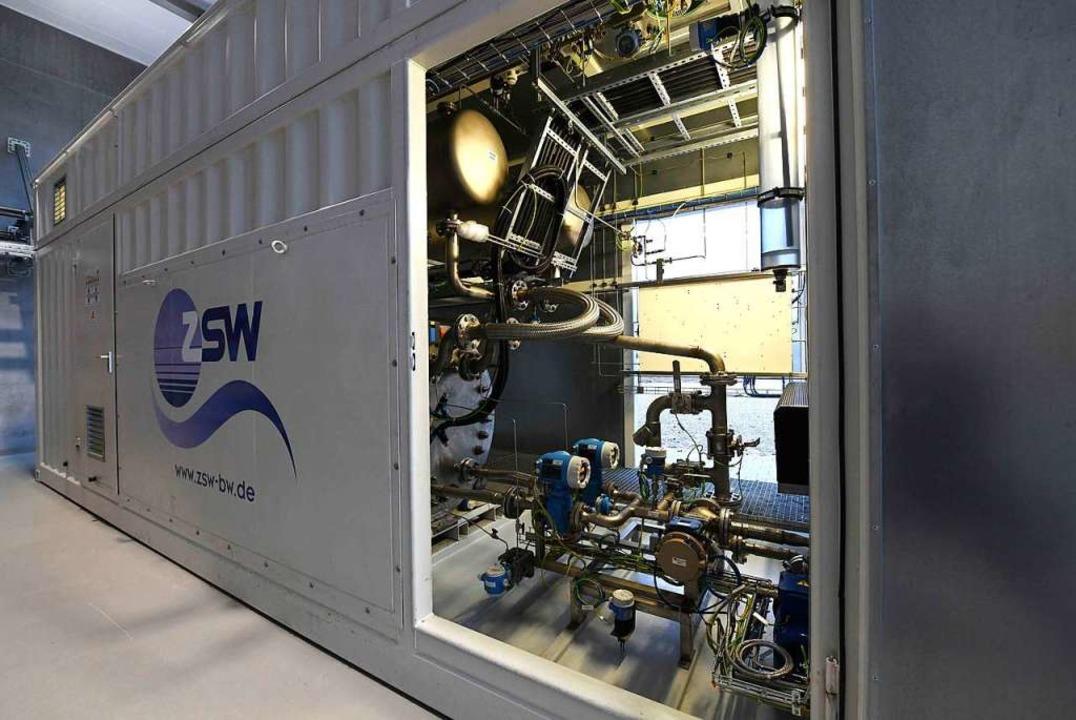 Blick in das Innere der Anlage  | Foto: Energiedienst