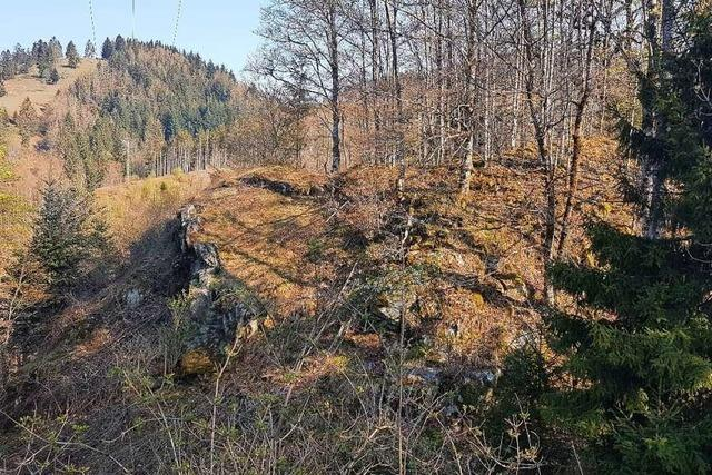 Auf dem Altenstein bei Häg-Ehrsberg hauste der echte Hürus