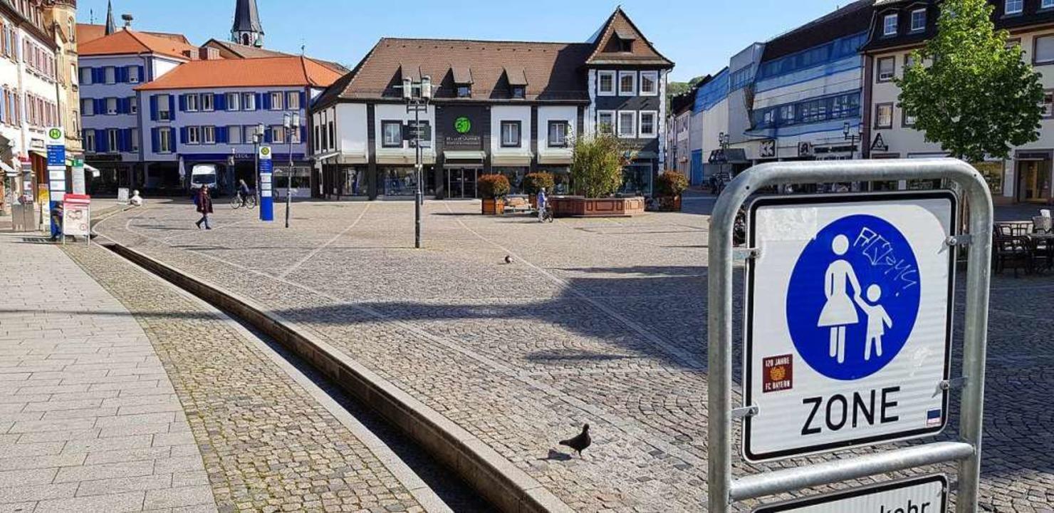 Ein fast leerer Marktplatz in Emmendin...n könnte es ein wenig anders aussehen.  | Foto: Gerhard Walser