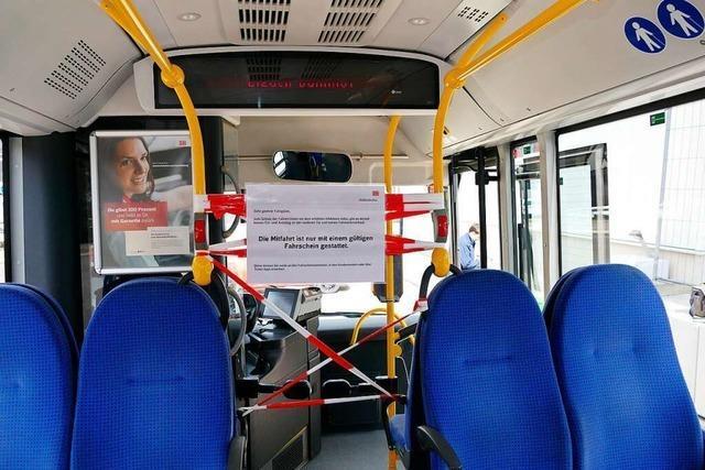 Reduzierter Südbadenbus-Fahrplan gilt weiter bis 3. Mai