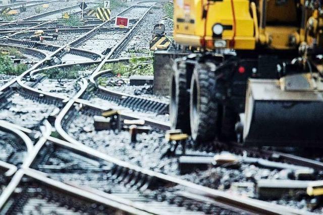 Der Bahnausbau in Weil am Rhein dauert noch bis 2026