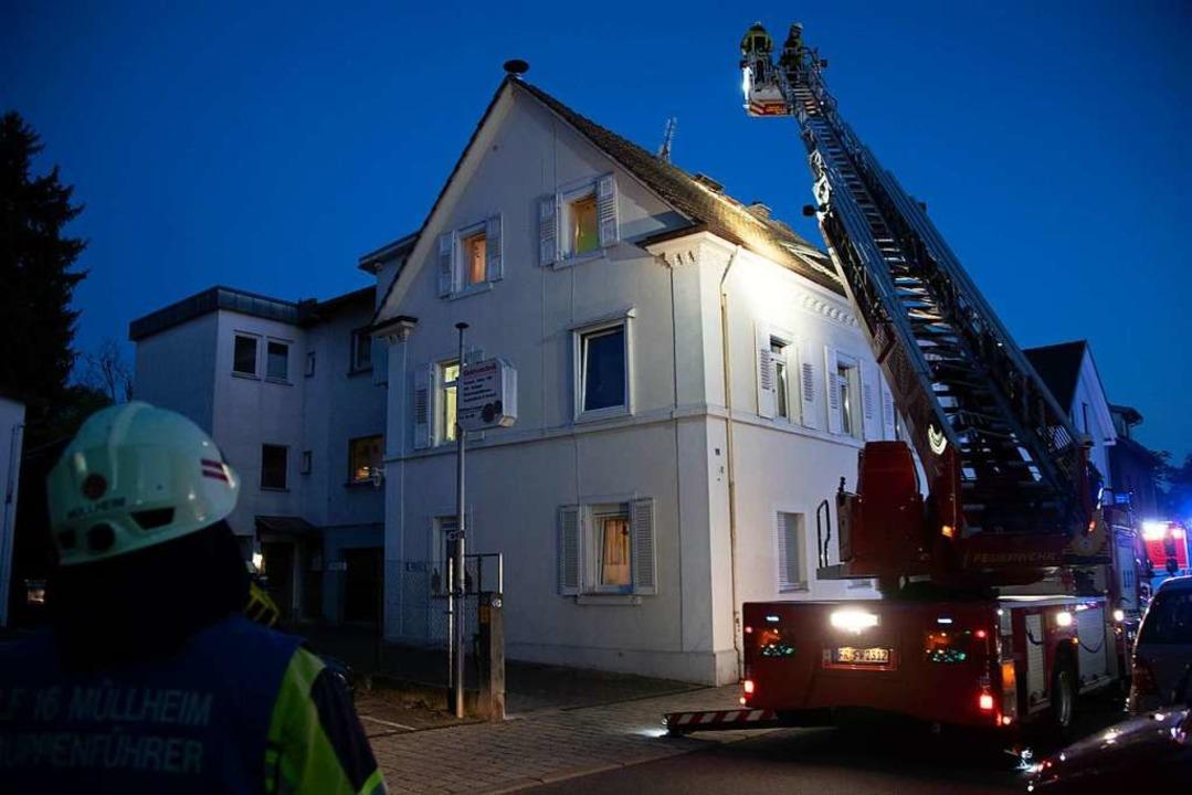 Brandgeruch löste einen Einsatz der Müllheimer Feuerwehr in der Hebelstraße aus.  | Foto: Volker Münch