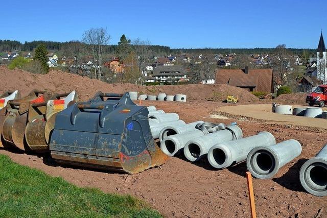 Neubaugebiet wird erschlossen