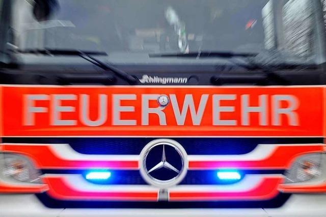 Zwei Hausbewohner bei Brand in Freiburg-Tiengen verletzt