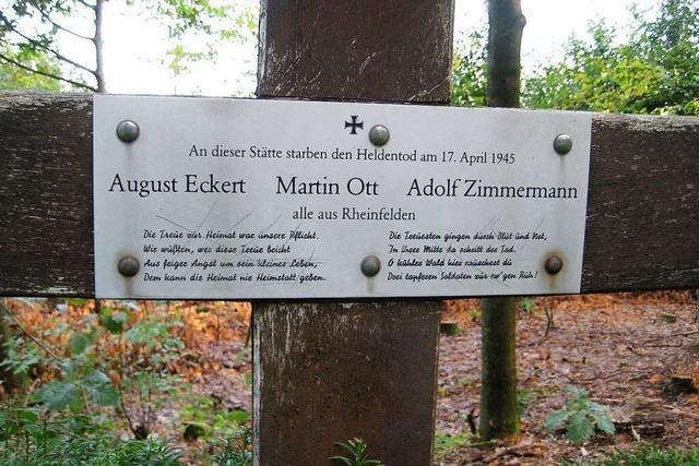 Drei Rheinfelder Soldaten wurden vor 75 Jahren von der SS in Friesenheim erschossen