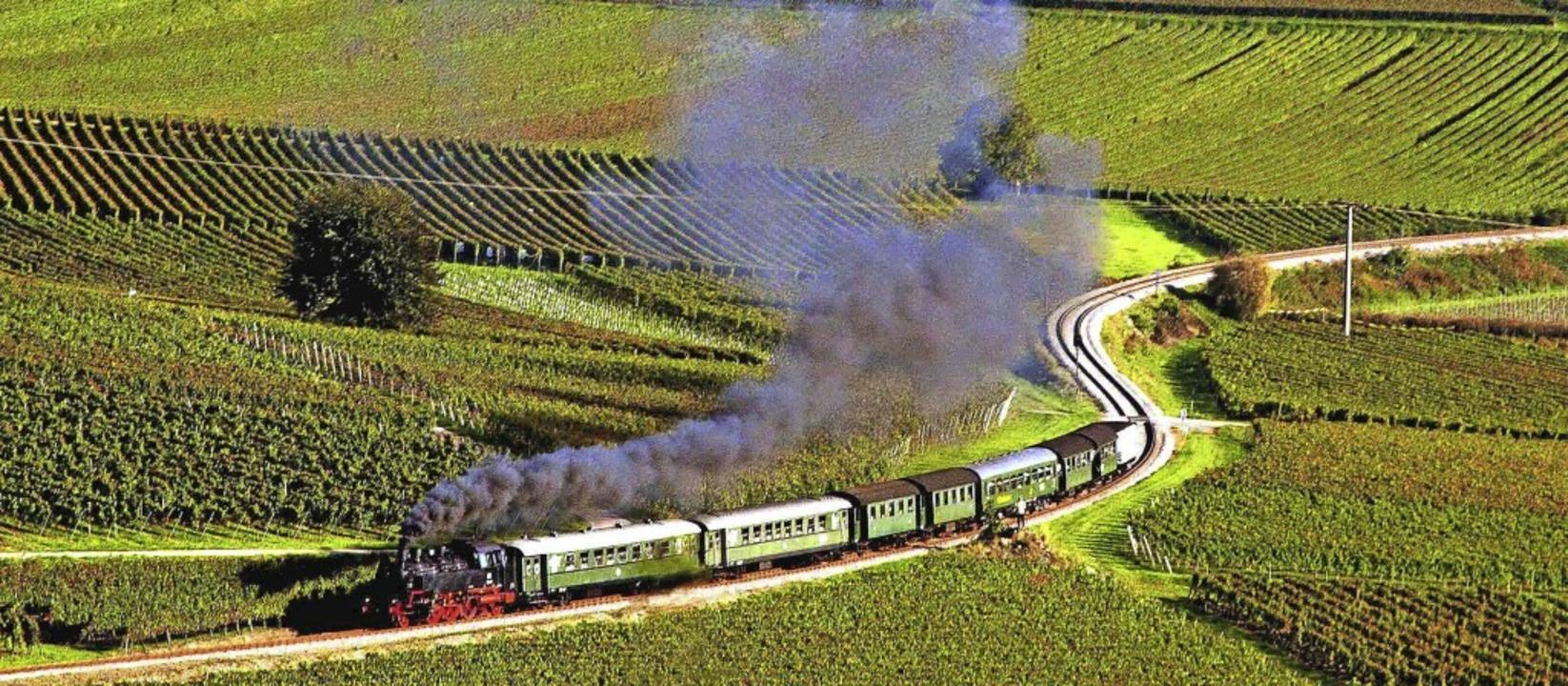 Beliebt waren die Fahrten des Rebenbum...erstuhl zwischen Riegel und Breisach.     Foto: herbert trogus