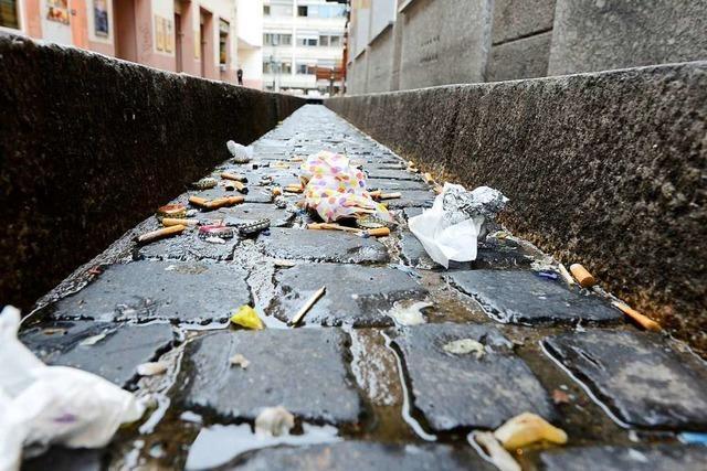 Freiburgs City sollte auch ohne Corona-Shutdown sauber gehalten werden