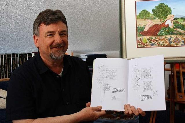 Riegeler Künstler entwirft Malbücher für Erwachsene