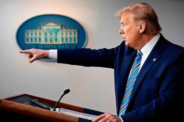 Trump und das Virus: Egotrip im Weißen Haus