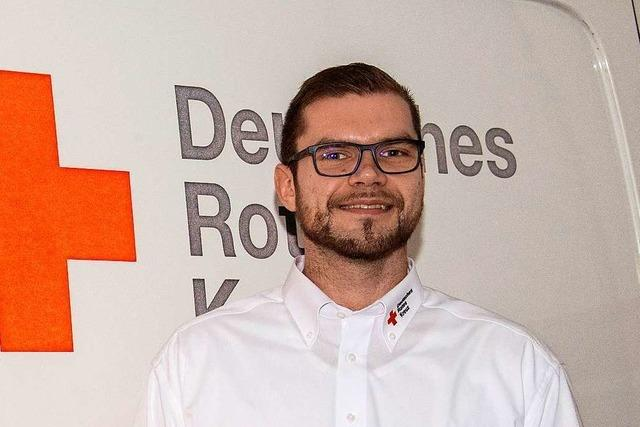 Fabian Delugas vom DRK Müllheim sieht auch eine Chance in der Krise