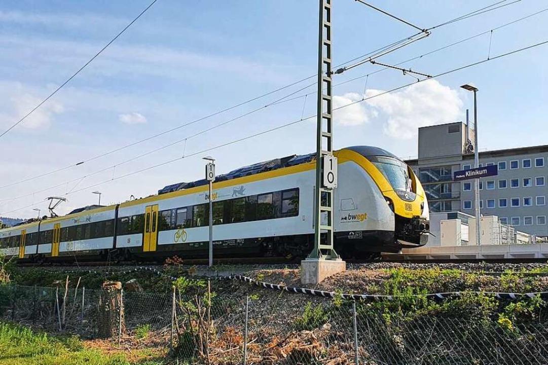 Die Breisgau-S-Bahn bringt viele Mitarbeiter der Uni-Klinik zur Arbeit.    Foto: Sebastian Wolfrum