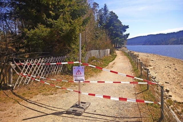 Engstelle am Seerundweg bleibt gesperrt