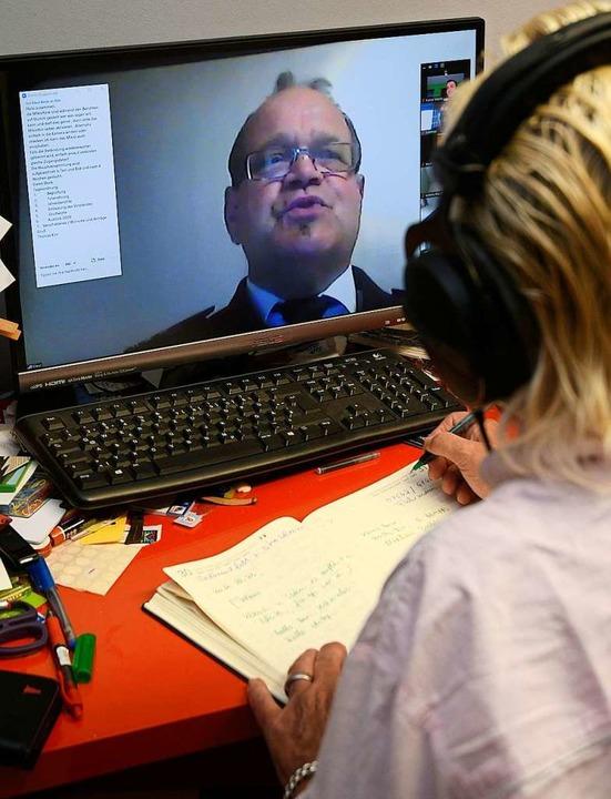 Reibungslos klappte die Videokonferenz.  | Foto: Bettina Schaller