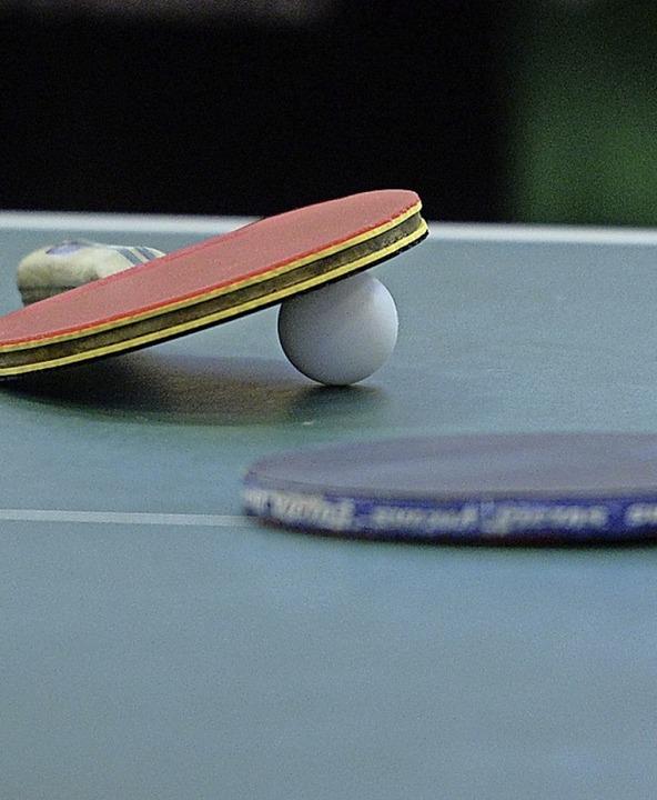 Tischtennis ist Heißlers große Leidenschaft.  | Foto: Patrick Seeger