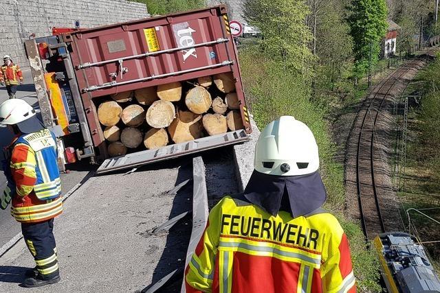 Lkw-Unfall im Höllental