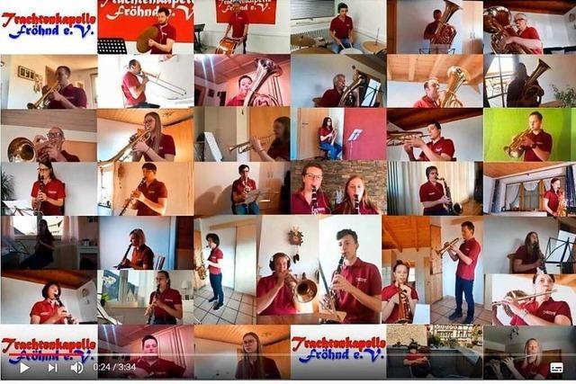 Trachtenkapelle Fröhnd studiert neues Stück per Videokonferenzen ein