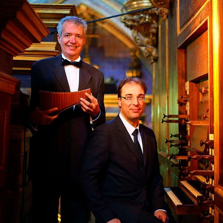 Philippe Emmanuel Haas (Panflöte) und ...lin (Orgel) haben eine CD eingespielt.  | Foto: Emmanuel Schublin