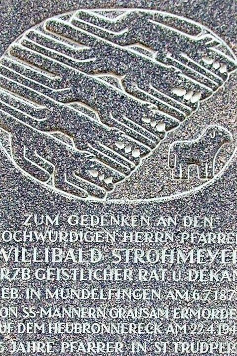 Das Grabrelief auf dem Friedhof von St. Trudpert  | Foto: Manfred Lange