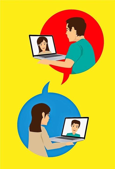 Videokonferenzen gehören inzwischen zum Alltag.  | Foto: Sisti (stock.adobe.com)