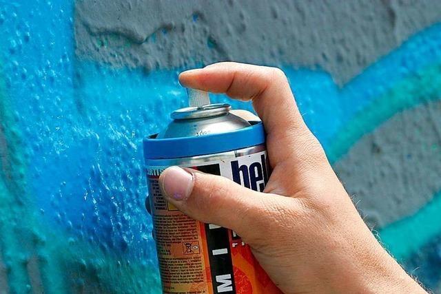 Mutmaßliche Graffiti-Sprayerin widersetzt sich Festnahme in Freiburg-Herdern