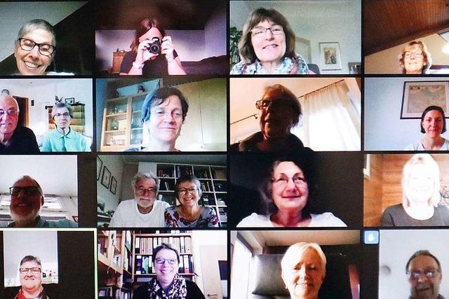 Chor aus Schallstadt singt nun online und hat Spaß dabei