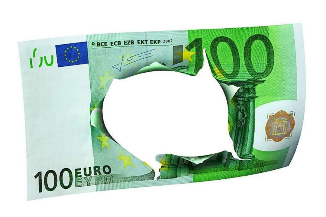 Wenn es doch nur 100 Euro wären &#8230... Ausfall im Haushalt von 25 Millionen.  | Foto: K.-U. Häßler / /fotolia.com