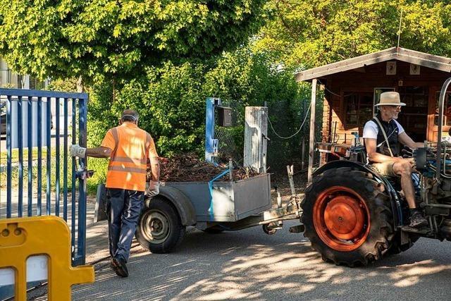In Bötzingen kann wieder Grünschnitt am Recyclinghof abgegeben werden