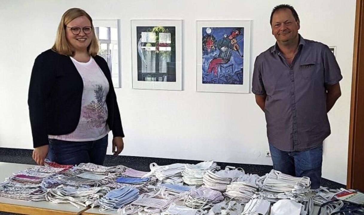<BZ-FotoAnlauf>Sozialstation:</BZ-Foto...m freuen sich sehr über die  Spenden.   | Foto: Privat